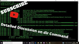 Listing Files and Directories using DIR Command | Windows Command Line [in Hindi]