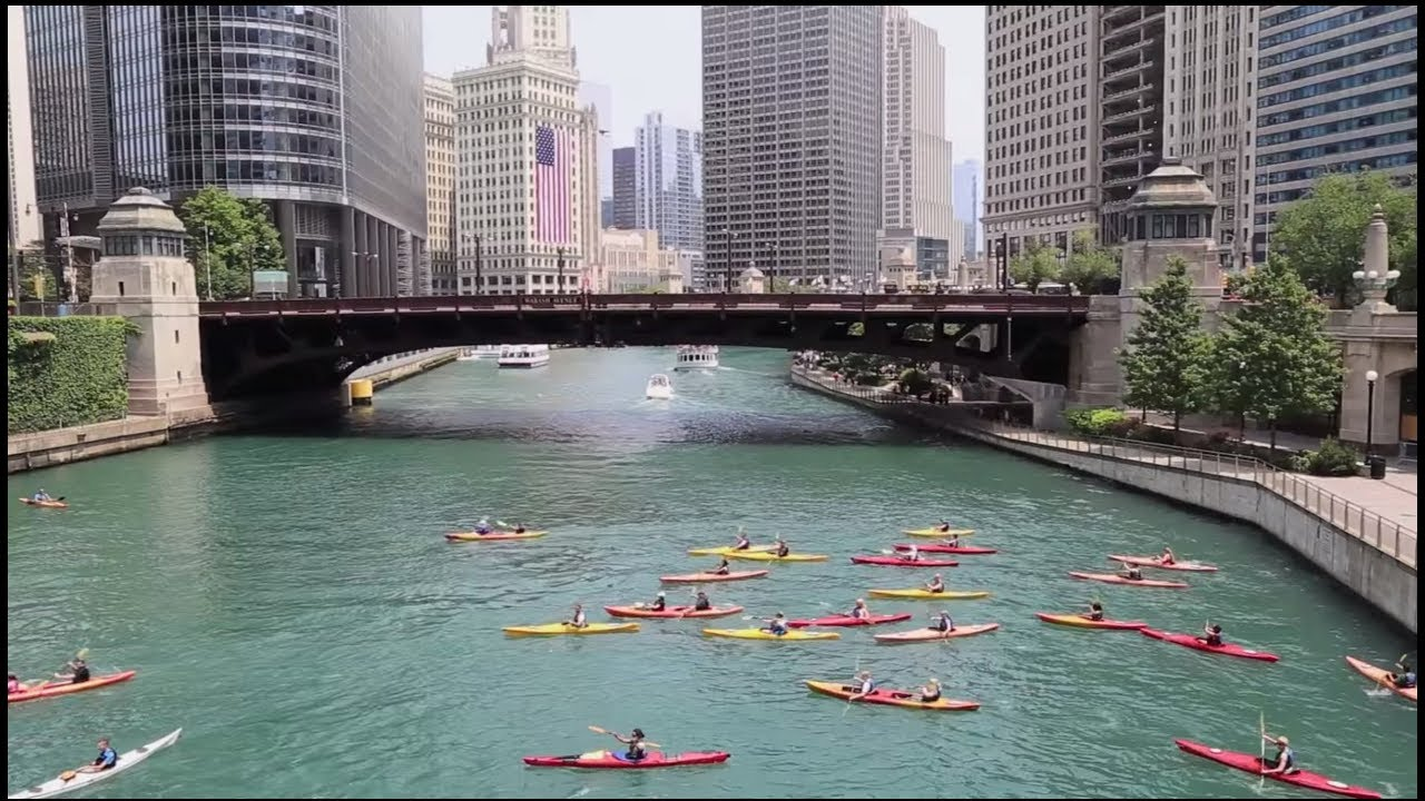 Kayak Down the Chicago River