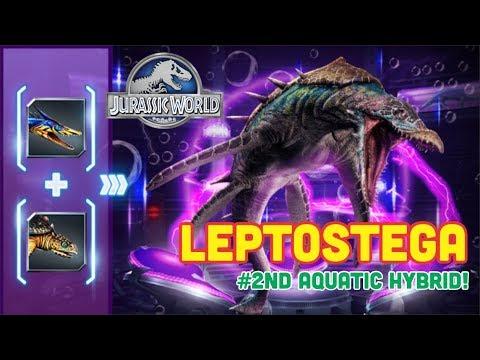 LEPTOSTEGA UNLOCKED | 2ND AQUATIC HYBRID! - Jurassic World