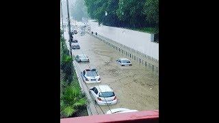 Ливневой паводок в Адлерском районе г. Сочи