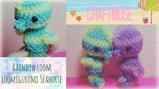 Rainbow Loom Loomigurumi Seahorse