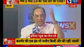 Dr.Subramanian Swamy and Hussain Masoodi on India Next Manch speaks over removing article 35A, 370