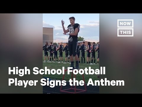 High School Football Player Signs the National Anthem | NowThis