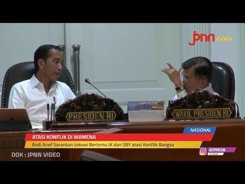 Bertemu di Istana, Jokowi   Prabowo Semringah