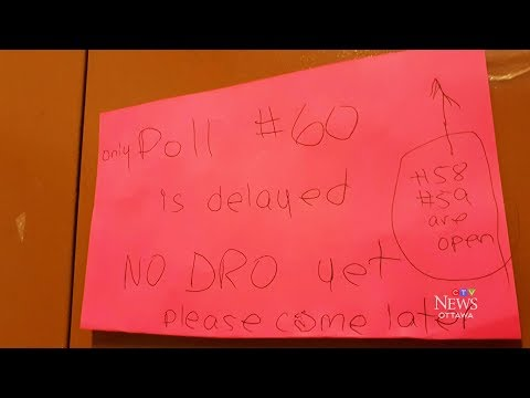 Some voters in Ottawa unable to case ballots because polling station workers show up late