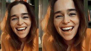 Emilia Clarke - IG Live (GurlsTalk) #CopingTogether