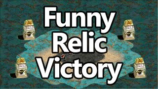 Funny Relic Victory AoE2 Game!