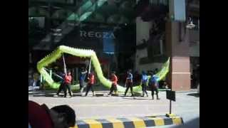 preview picture of video 'Dragon & Lion Dance Performance 1 Borneo'