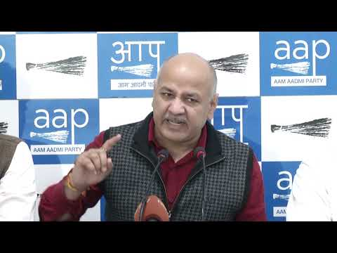 "AAP Senior Leader & Deputy CM Manish Sisodia Says ""Attack on Delhi CM is a Conspiracy by BJP"""