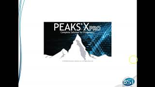 PEAKS Studio Xpro Walkthrough