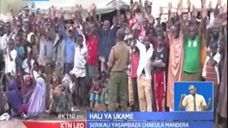 Waziri wazua kaunti ya Mandera na kuwaahidi kuongeza magari ya maji na nyasi kwa mifugo yao