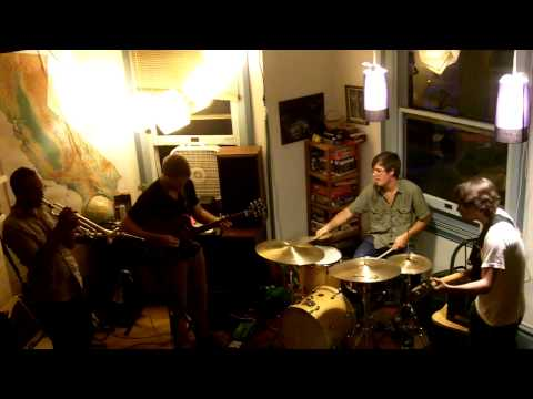 """Playing an original composition entitled """"Iridium"""" a house show with Yelsa in Sacramento, CA"""