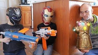 [Nerf Battle] Avengers Infinity Gauntlet (Spoilers)
