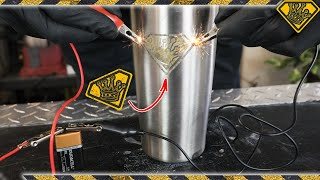 Etch METAL with Battery Power