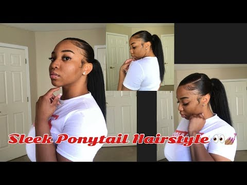 My Go To Protective Style: Sleek Side Part Ponytail Hairstyle Using Hair Extensions✨ | Alexis Unique