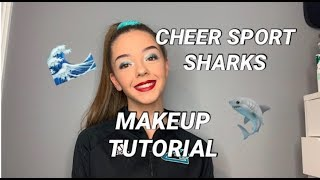 Cheer Sport Sharks Makeup Tutorial | LITTLE MINI MUA