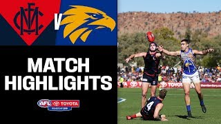 Footy Goes To Amazing Alice | Melbourne V West Coast Highlights | Round 18, 2019 | AFL