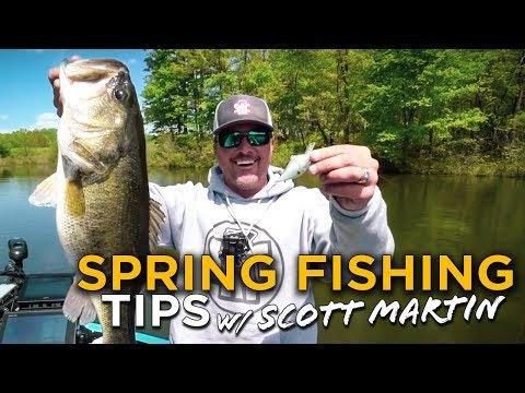 Spring Bass Fishing TIPS from SCOTT MARTIN