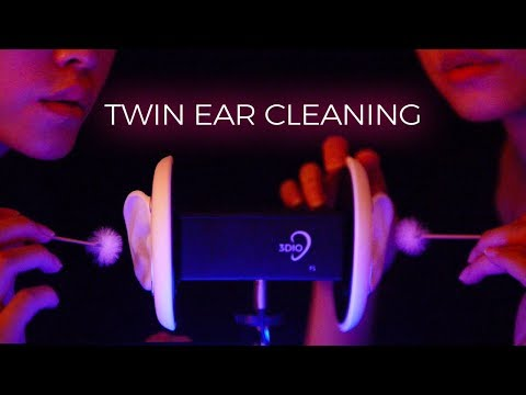 ASMR Twin Ear Cleaning to Put You in a Coma (No Talking)