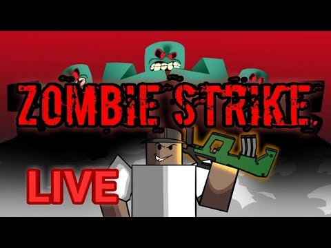 ZOMBIE STRIKE! GIVEAWAY!COME OUR JOIN ROBLOX LIVE STREAM! FAMILY FRIENDLY!!
