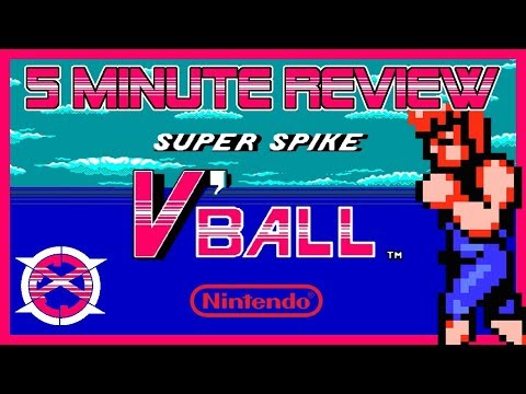 Super Spike V'ball (NES) 5 Minute Review | Double Dragon Volleyball?!
