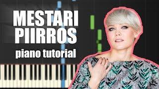 Anna Puu - Mestaripiirros | PIANO TUTORIAL