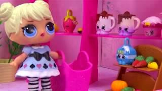 Кукла ЛОЛ нашла большой йогурт Num Noms и Shopkins Happy Places LOL #Игрушки #Сюрпризы