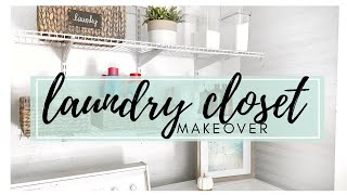SMALL LAUNDRY ROOM MAKEOVER | CLEAN & ORGANIZE WITH ME 2019 | CHEAP LAUNDRY ORGANIZATION IDEAS