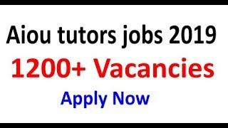 allama iqbal open uni tutor jobs 2019 - TH-Clip