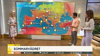 Obehagliga värmerekordet: 49,5 grader - Nyhetsmorgon (TV4)