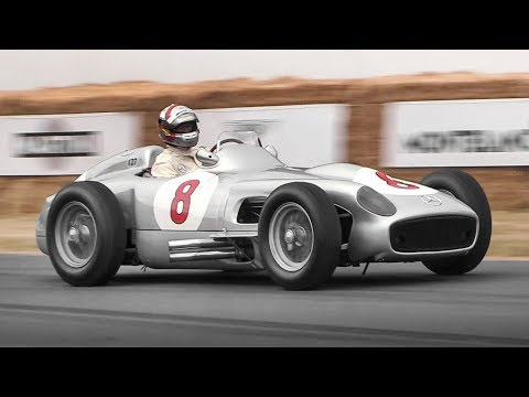 Mercedes 'Silver Arrows' at Festival of Speed: W125, W165 & W196 R in action!