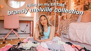 Trying On My ENTIRE Brandy Melville Collection (this Took 3 Hours)
