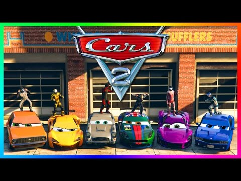GTA ONLINE PIXAR: CARS 2 MOVIE SPECIAL - LIGHTNING MCQUEEN, LEWIS HAMILTON & CARS 3 MOVIE VEHICLES!