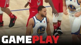 NBA 2K19: Warriors vs. Rockets Gameplay (FULL QUARTER OF XBOX ONE X IN 4K)