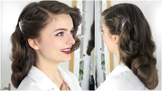 40s Brush Out On Long Hair | Tutorial