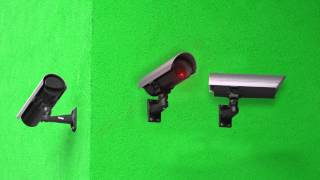 Security Camera - Green Screen Animation