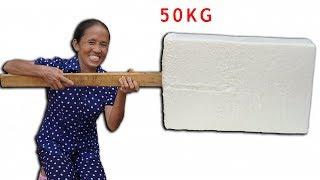 Bà Tân Vlog - Làm Que Kem Siêu To Khổng Lồ 50Kg | Giant Ice Cream Sticks