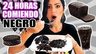 24 HORAS COMIENDO NEGRO   RETO SandraCiresArt   All Day Eating Black Food Challenge
