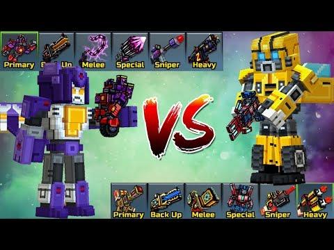 Aggressive Bot Set VS Friendly Bot Set - Pixel Gun 3D