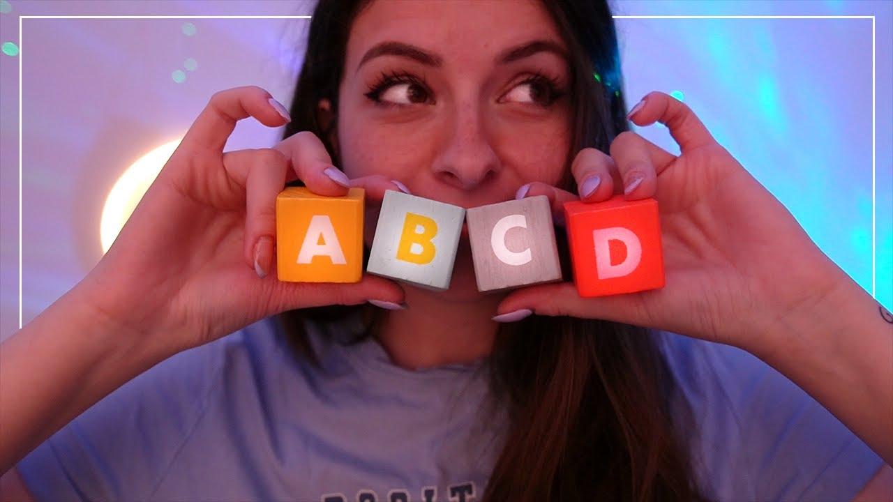 ASMR | Relaxation de A à Z avec l'alphabet ☁️