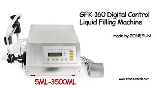 How to use the GFK-160 Compact Precise Numerical Control Liquid Filling Machine 5-3500ml