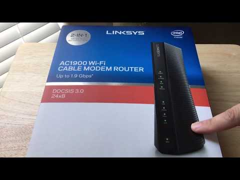 Linksys CG7500 AC1900 Dual-Band Modem WiFi Router Unboxing 8-5-17