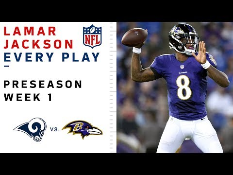 Every Lamar Jackson Throw   Run vs. Rams 0853c9454