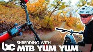 Checking out Corner Canyon with MTB Yum Yum.