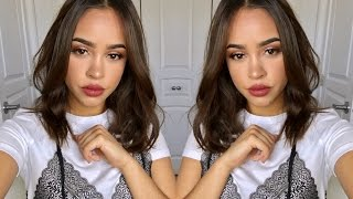 GOLD & GLAM CUT-CREASE | ONE BRAND MAKEUP TUTORIAL FT TARTE! | Maria Bethany