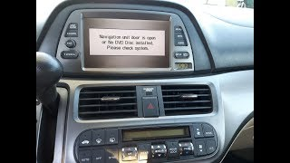 DIY FIX FOR HONDA NAVIGATION GPS NO DVD DISK INSTALLED OR DOOR OPEN ERROR Odyssey Pilot Accord