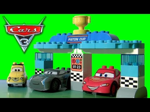 CARS 3 LEGO DUPLO Piston Cup Race 10857 With Disney Pixar Cars 3 Jackson Storm By TOYS CLUB