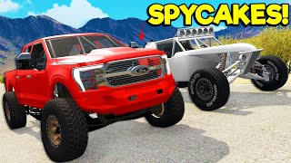 Spycakes & I UPGRADED Our FORD Trucks with OVERPOWERED Parts in BeamNG Drive Mods!