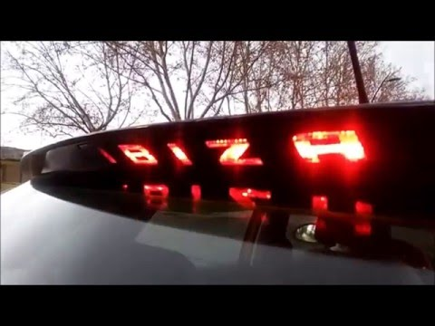 Pegatina para la tercera luz de freno Seat Ibiza / Brake light sticker