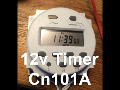 How to setup 12v DC Timer with Wiring Diagram Cn101A